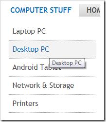 Computer Stuff Menu