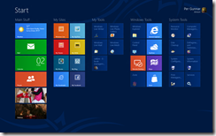 Windows 8 Preview Home Screen