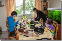 Easter lunch with Swedish herring and eggs