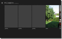 Windows 8 Photo App insisting on showing hidden folders