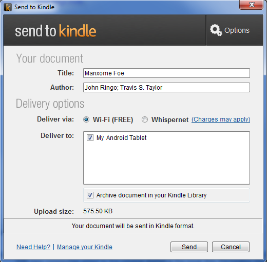 Kindle Personal Document Service is actually quite handy but
