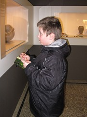 Visit at Musee d'Art et d'Historie in Geneva - Timothy taking notes