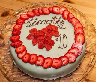 Timothy's birthday cake