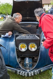 The annual meeting of the French Chrome car club