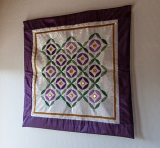 One of Bodil's latest, Indian inspired, textile works