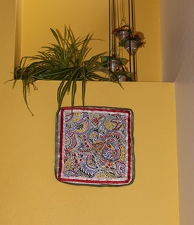 Some more of Bodil's textile works have been put up on the walls