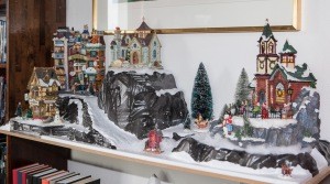 Lucia, time to set up the Christmas village
