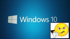 Windows 10 Unhappy
