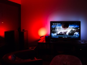 Philips Hue lights watching Netflix