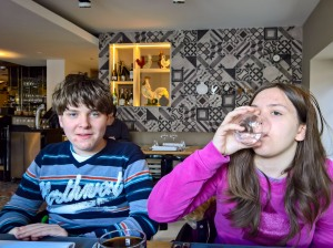 At Coque Rouge, St Genis Puilyy, for lunch
