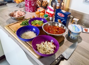 Italian soup with Pasta and Chicken