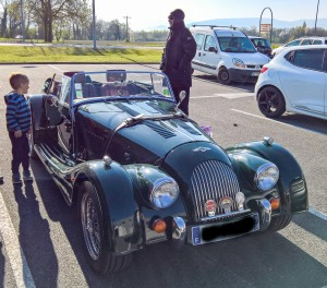 Nice Morgan that had parked next to me when I was shopping.
